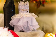 Wedding items, composition of festive paraphernalia for the wedding. Colorful scenery in nature, photo for memory. Represents tenderness and romance of the royalty free stock photography