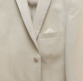 Wedding jacket. A detail of a jacket, of a groom Royalty Free Stock Photos