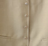Wedding jacket. A detail of a jacket, of a groom Royalty Free Stock Images