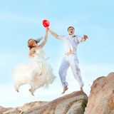 Wedding jump Royalty Free Stock Images
