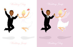 Wedding jump 3 Stock Photos