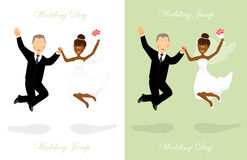 Wedding jump 4 Stock Image