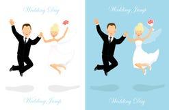 Wedding jump Stock Photography