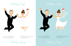 Wedding jump 2 Royalty Free Stock Image