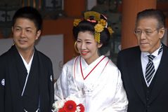 Wedding at Kasuga Taisha shrine, Nara, Japan Royalty Free Stock Image