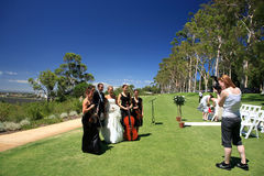 Wedding in King's Park,Perth. Wedding in Green recreation area in King's Park,Perth, Western Australia Royalty Free Stock Photography