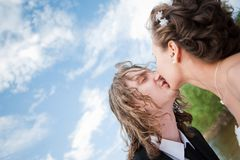 Wedding kiss Royalty Free Stock Photo