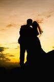 Wedding Kiss. As husband and wife Stock Photography