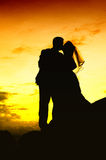 Wedding Kiss. As husband and wife Stock Images