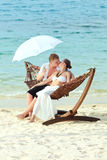 Wedding kiss Stock Image