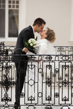Wedding kiss Stock Photo
