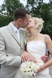 The wedding kiss Stock Photos