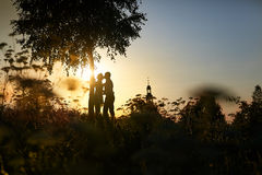 Wedding Kiss. As husband and wife Royalty Free Stock Photos