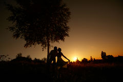 Wedding Kiss. As husband and wife Royalty Free Stock Photography