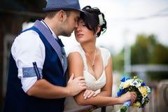 Wedding, kiss, top view Royalty Free Stock Image