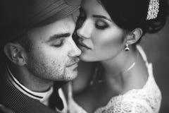 Wedding, kiss, top view Royalty Free Stock Photos