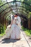 Wedding. Kissing couple Royalty Free Stock Photography