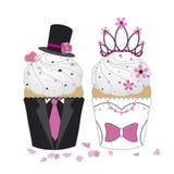 Wedding kleine Kuchen stock abbildung