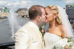Wedding Kuss Stockfoto