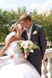 Wedding Kuss Lizenzfreie Stockbilder