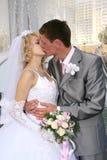 Wedding Kuss Lizenzfreies Stockbild