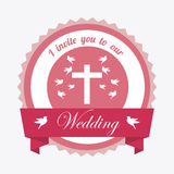 Wedding label Stock Images