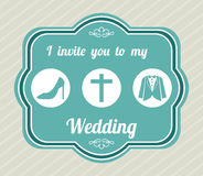 Wedding label Royalty Free Stock Images