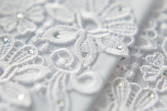Wedding lace background Royalty Free Stock Image