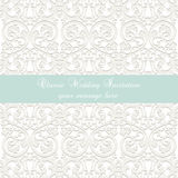 Wedding Lace card Royalty Free Stock Photos
