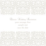 Wedding Lace card Royalty Free Stock Photo