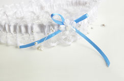 Wedding lace garter Royalty Free Stock Images
