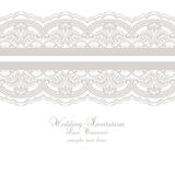 Wedding Lace Invitation Card. Vintage lace pattern Vector Stock Photography