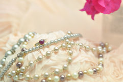 Wedding lace and pearl Royalty Free Stock Image