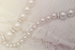 Wedding lace and pearl Royalty Free Stock Photo