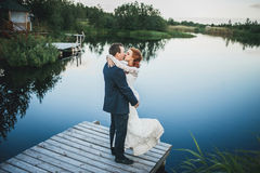 Wedding on the lake Stock Photography