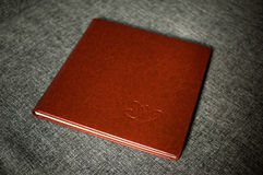 Wedding leather photo book Royalty Free Stock Photo