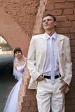 Wedding, les nouveaux mariés Photo libre de droits