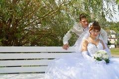 Wedding, les nouveaux mariés Images libres de droits