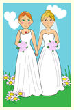 Wedding_lesbian illustration libre de droits