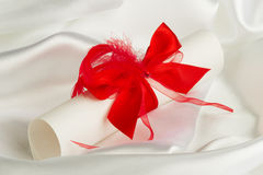 Wedding letter scrolling with ribbon Stock Images