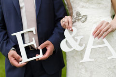 Wedding letters Stock Image