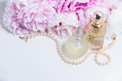 Wedding lifestyle with peony flowers Royalty Free Stock Photos