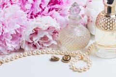 Wedding lifestyle with peony flowers Stock Photography