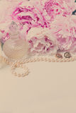 Wedding lifestyle with peony flowers Royalty Free Stock Image