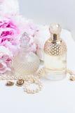 Wedding lifestyle with peony flowers Royalty Free Stock Photo