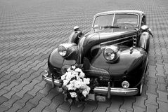 Wedding limousine Royalty Free Stock Photos