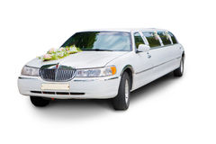 Wedding limousine Stock Photo