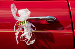 Wedding Limousine handle Stock Photos