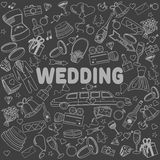 Wedding line art design vector illustration Royalty Free Stock Photography