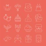 Wedding line icon Royalty Free Stock Image
